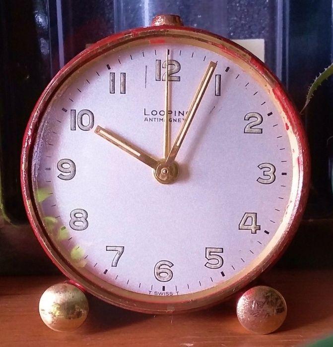 58bd346cbcf Relógio Despertador Suiço Looping Vintage