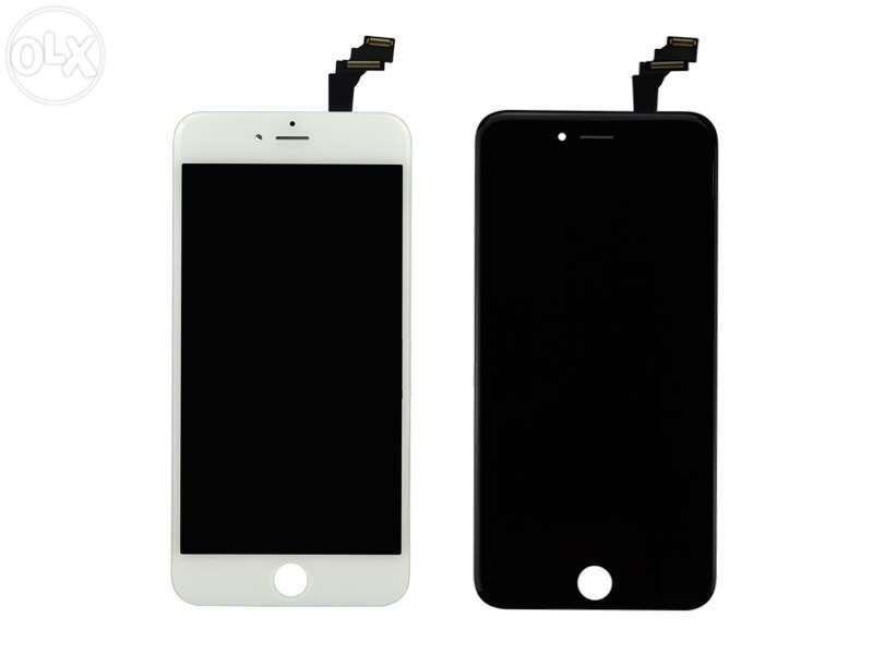 Ecra /Display / visor Apple iPhone 6/6S/7/8Plus preto branco original
