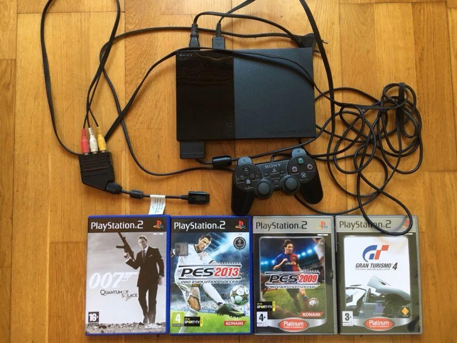Vendo PlayStation 2 SLIM + 4 jogos