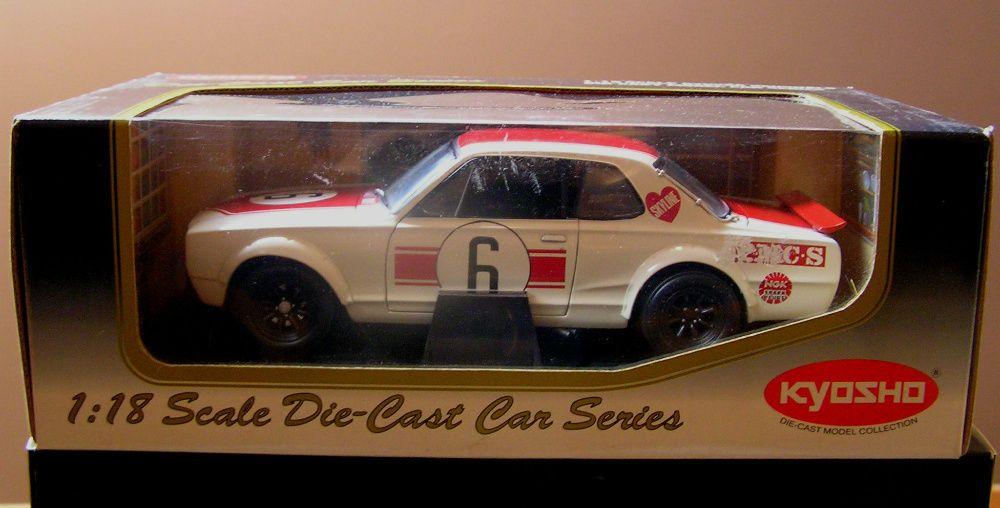 Miniatura KYOSHO Nissan Skyline 2000 GT-R KPGC10 Racing 1971 #6