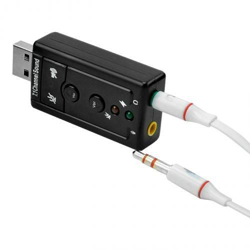 Звуковая карта внешняя 7.1 Surround USB-sound card 3D sound