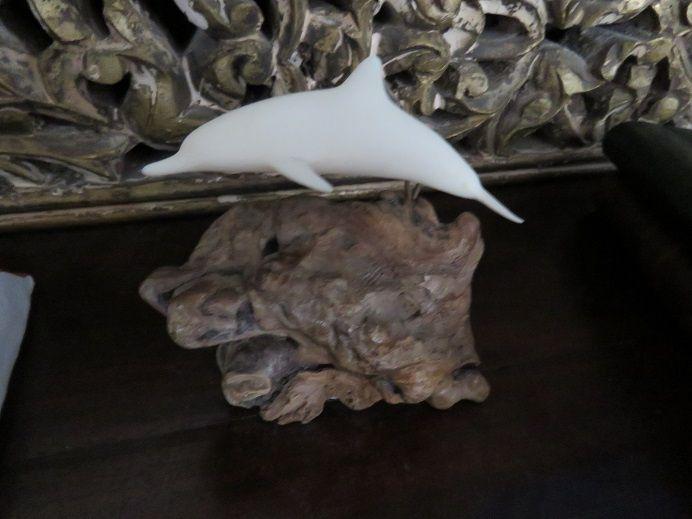 Golfinho de Porcelana Artesanal