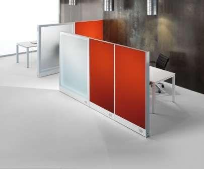 Biombo separador para escritório revestido tecido outras cores Novo