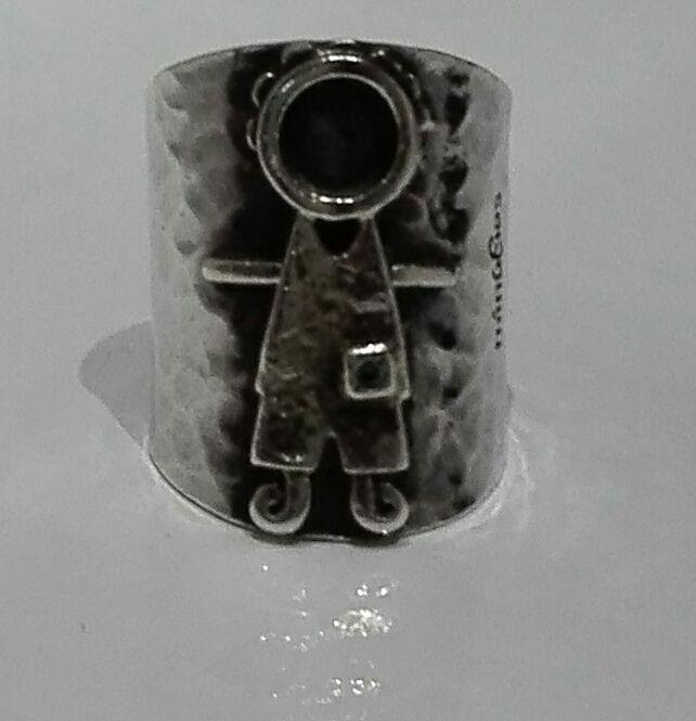 Anel em prata com menino