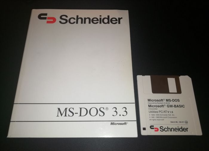 Microsoft MS-DOS 3.3 - Guia do Utilizador + Disquete