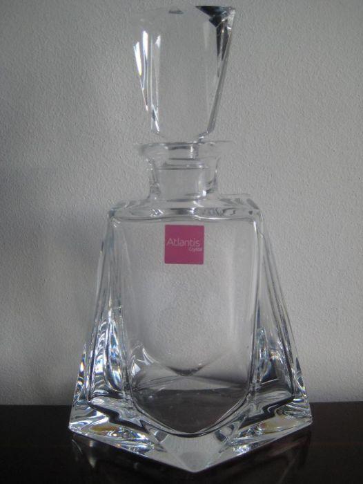 Frasco de Whisky- Cristal Atlantis sem uso
