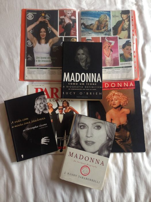 Conjunto 4 livros e revista MADONNA 25€