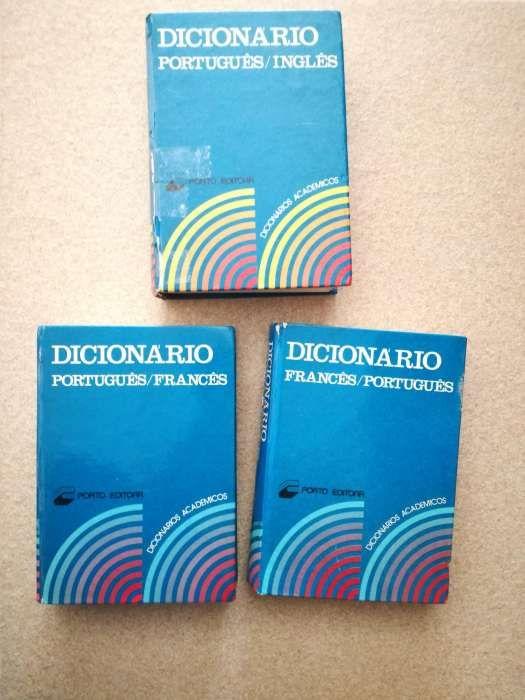 3 dicionários português, inglês e francês