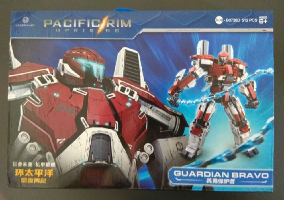 Guardian Bravo Pacific Rim comp. c/ Lego (Novos)