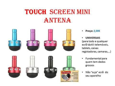 Caneta touch mini antena