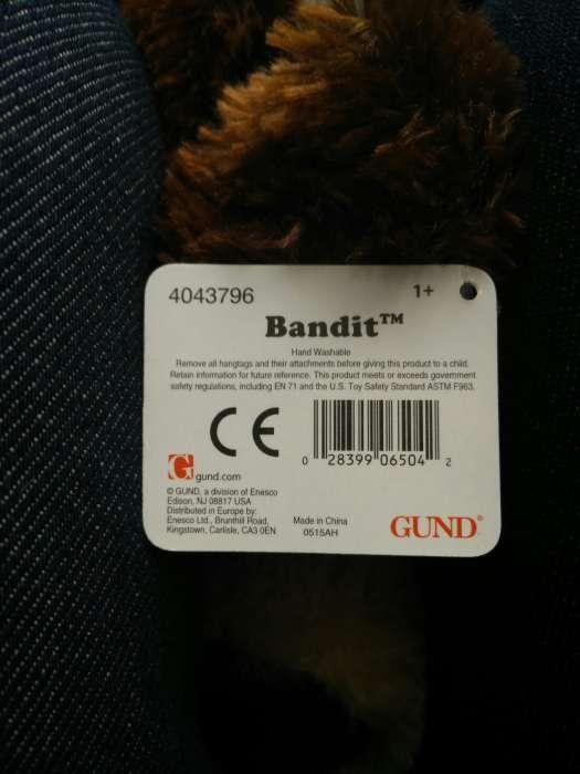 Boneco de peluche da GUND, bandit São Domingos de Benfica - imagem 2