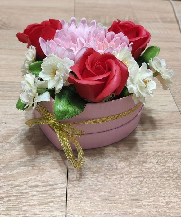Букет з мильної піни, букет из мыла, мыльные розы, букет на подарок Нежин - изображение 1