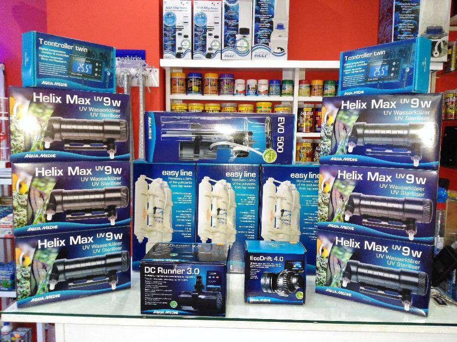 Filtros uv 9w aquamedic para aquario novo Helix max