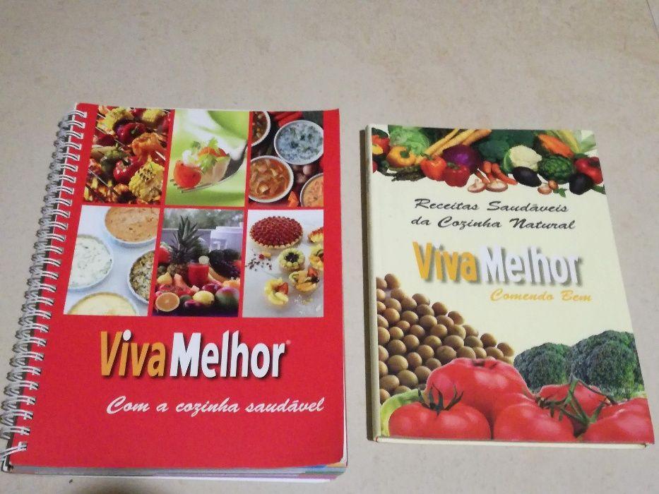 """2 livros """"Viva Melhor"""""""