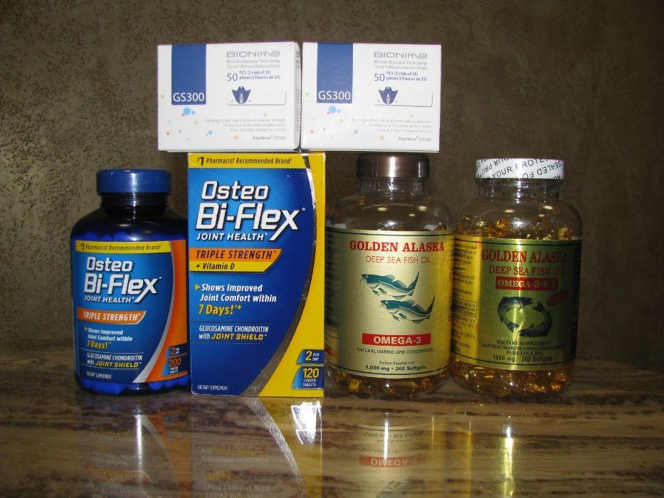 Omega 3-6-9 (Омега Рибячий жир Alaska USA), Osteo Bi Flex , Bionime