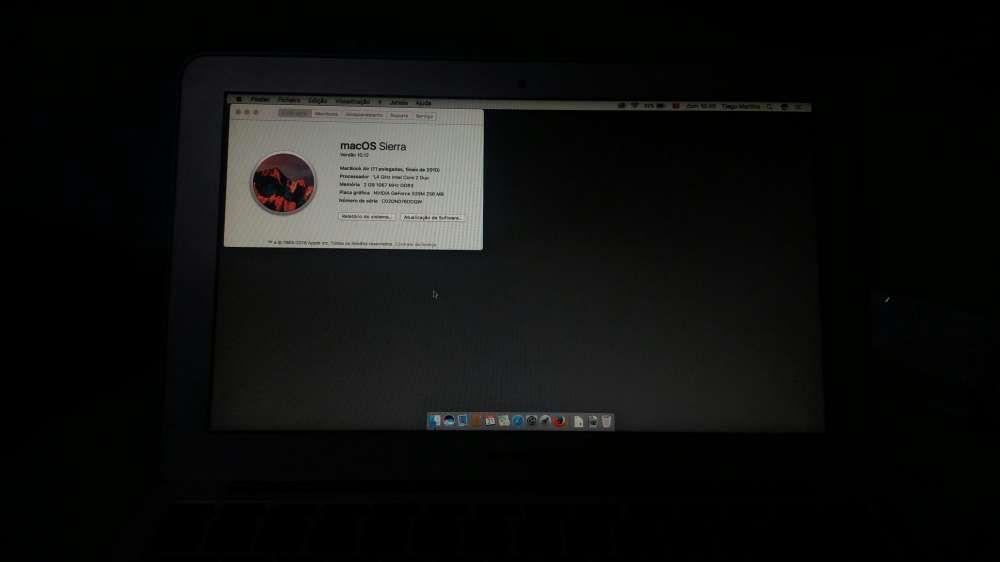 """Macbook air 11"""" sem bateria"""