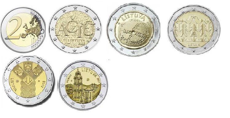 Lituânia moedas comemorativas de 2 euro UNC