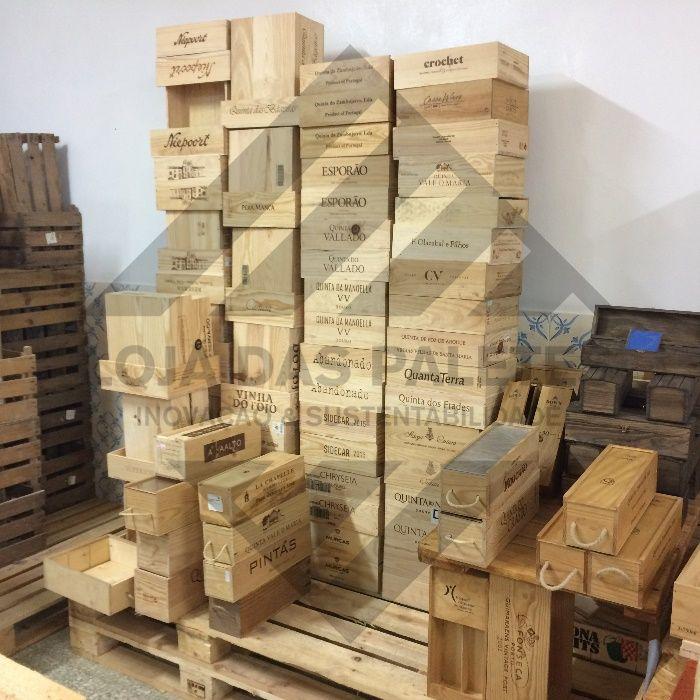 Caixas de Vinho em Madeira - Wine Box DECO DIY