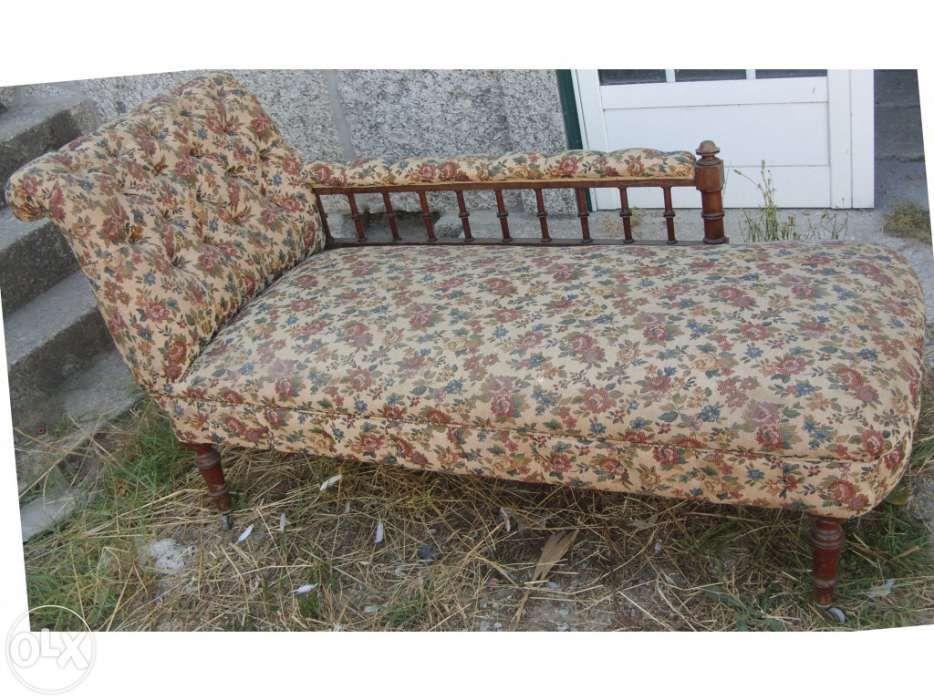 Chaise longue séc. xix antiga restaurada