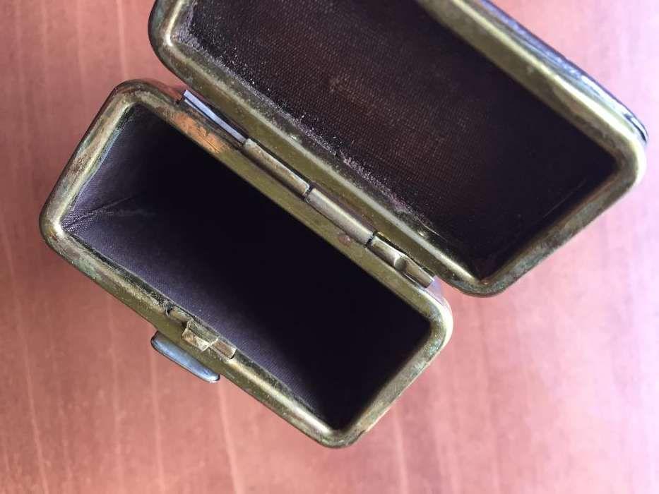f54f2c346f490 Cigarreira em pele castanha e dourada Benfica • OLX Portugal