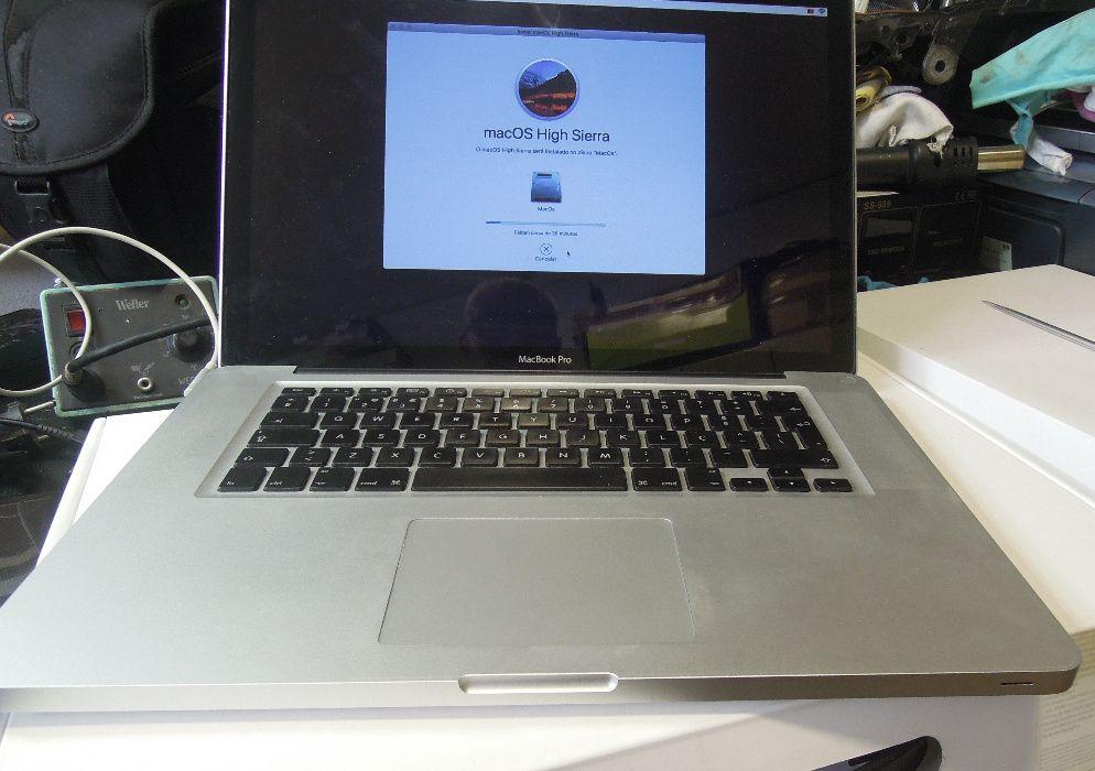 macbook Pro A1286 15 i7 2 graficas 8g ssd120g 2011