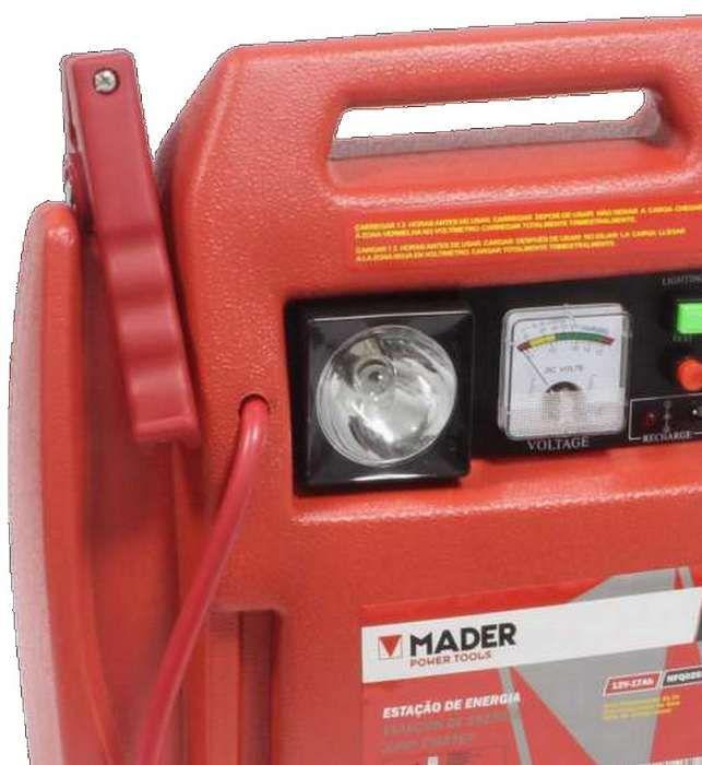 Arrancador de baterias com compressor de ar incorporado e lanterna