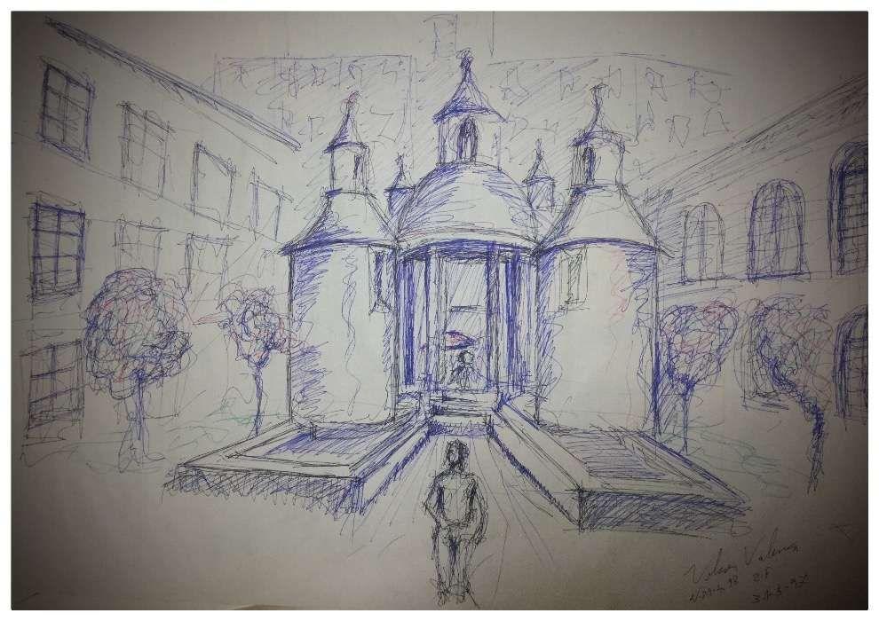 Espetacular desenho Jardim da Manga Coimbra