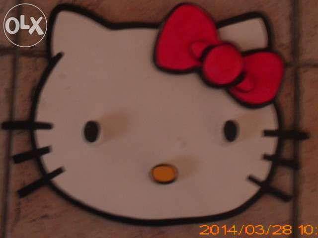 Cabide para quarto de criança - Hello Kitty madeira pintada