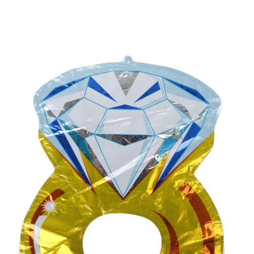 Anel diamante balão helio casamento namorados noivado decoração