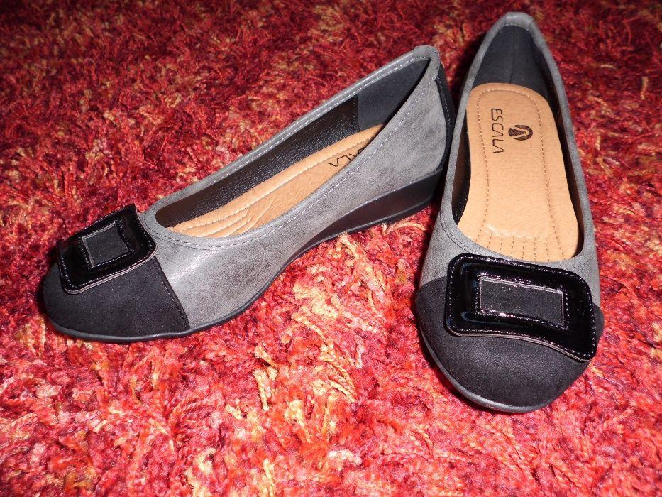 Sapatos Sabrinas Preto Cinza 36