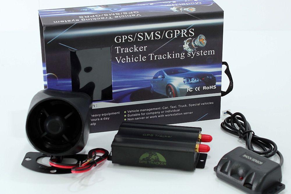 GPS103 Localizador de veiculos, corte corrente, sirene e sensor choque