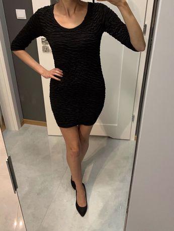 NOWA czarna prążkowana sukienka H&M, rozmiar 34 Warszawa