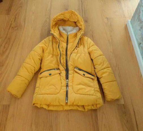 kurtka zimowa puchowa rozmiar 134 zara olx