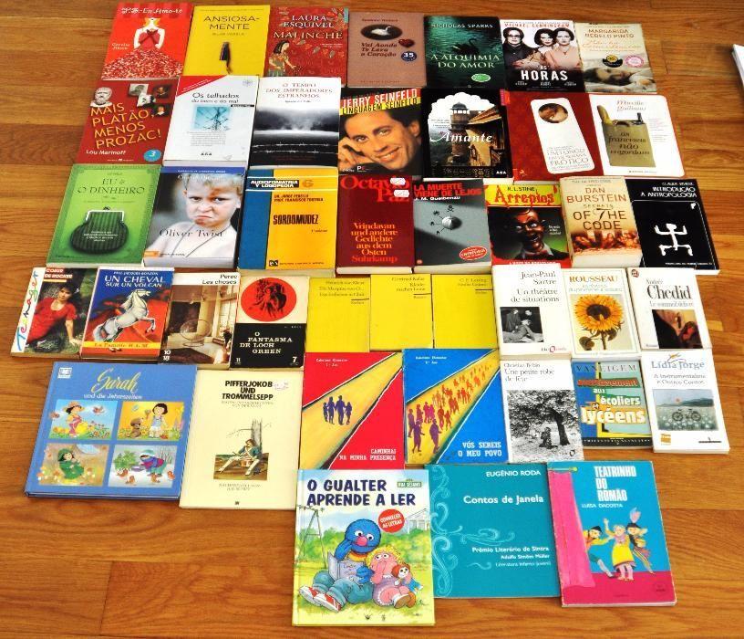 Vendo ou troco vários livros em diferentes línguas