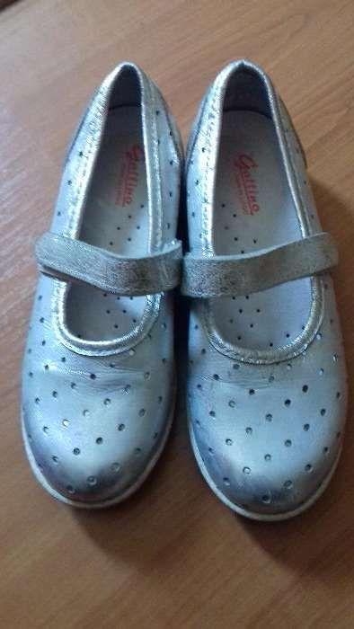 Sapatos como novos prateados no. 34 aproveite para comunhão ou festa