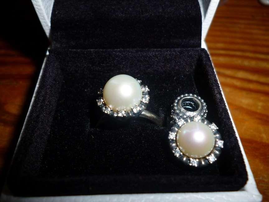 Pandora original conjunto anel nº 52 e pendente