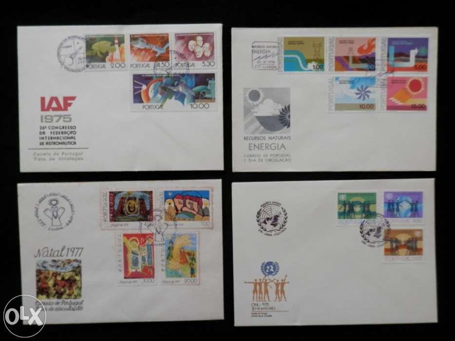 Envelopes originais dos CTT com selos