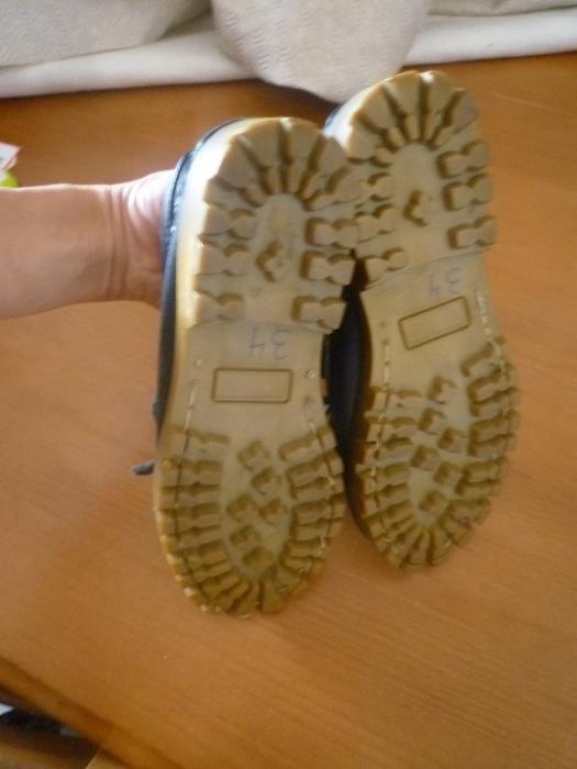 Sapatos em pele nº 34 Fabricado em Portugal Campolide - imagem 5