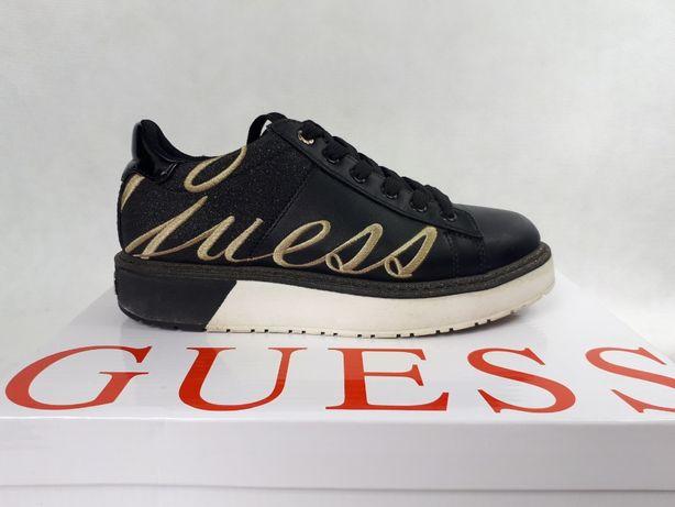 Sneakersy trampki GUESS platforma czarne 35 oryginalne