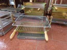 inox Grelhador Barbecue Fogareiro Churrasqueira Alcobaça - imagem 3