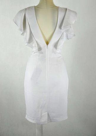 Biała sukienka ZARA ROZ. S, prosta, ślub cywilny Zdjęcie