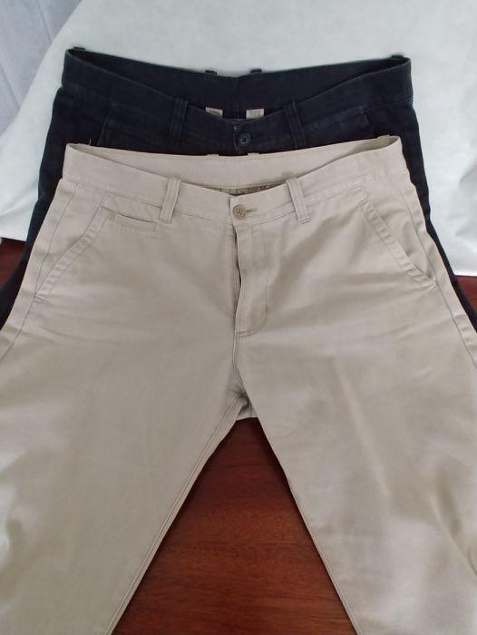 2 calças Springfield - azuis e cremes