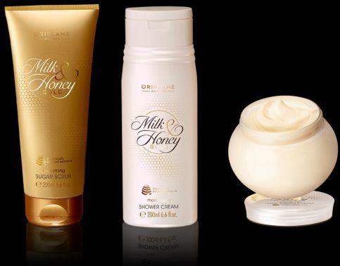 Creme de corpo + Esfoliante + Gel de duche Milk & Honey