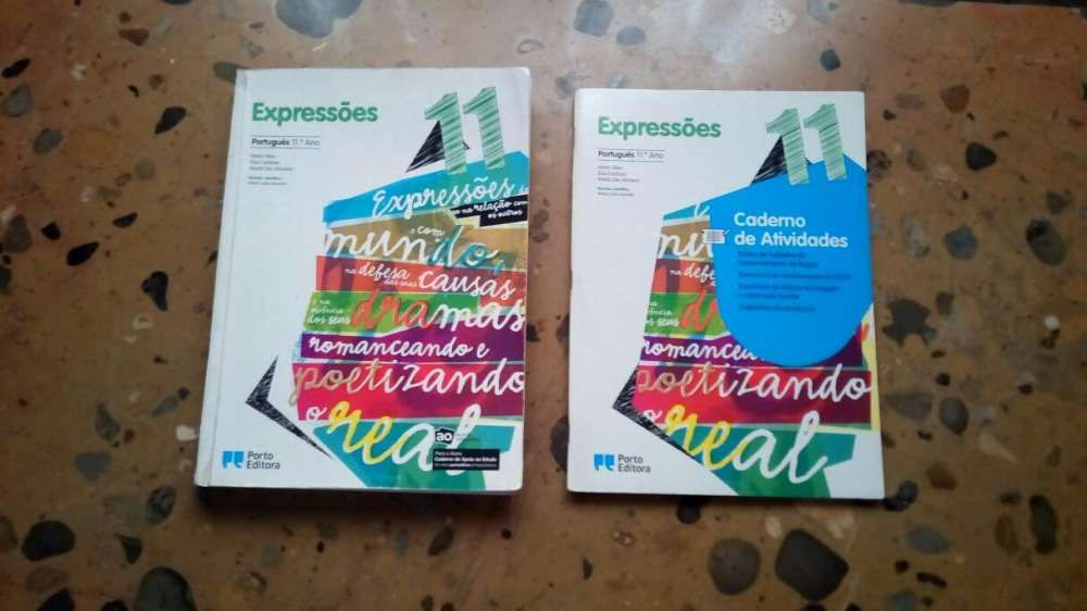 """Livro Português """"Expressões 11 ano"""" + caderno atividades"""