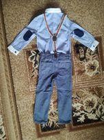 R 98 komplet świąteczny mały elegant koszula spodnie szelki  2GFqC
