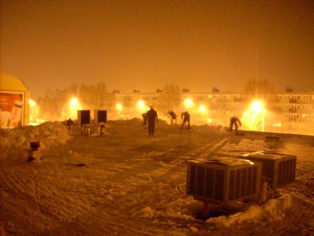 Odśnieżanie dachów, usuwanie sopli i nawisów śnieżnych, hale, magazyny