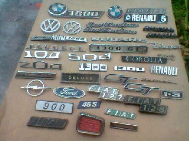 Peças automóvel emblemas e legendas
