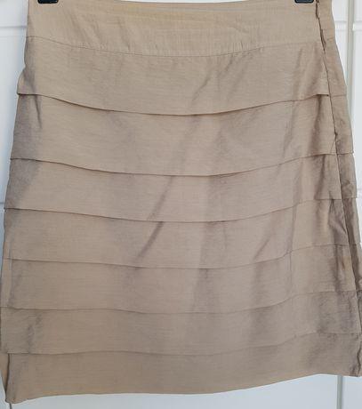 Srebrna ołówkowa spódnica za kolano MOHITO r. 34