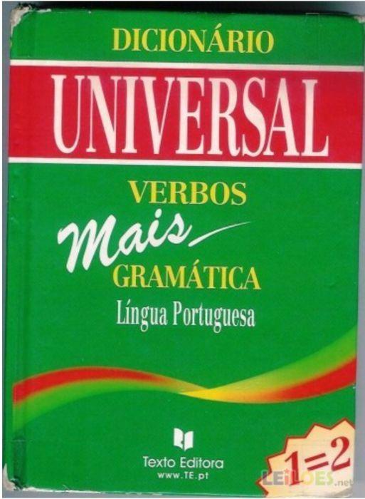Dicionário Universal Verbos mais Gramática Língua Portuguesa