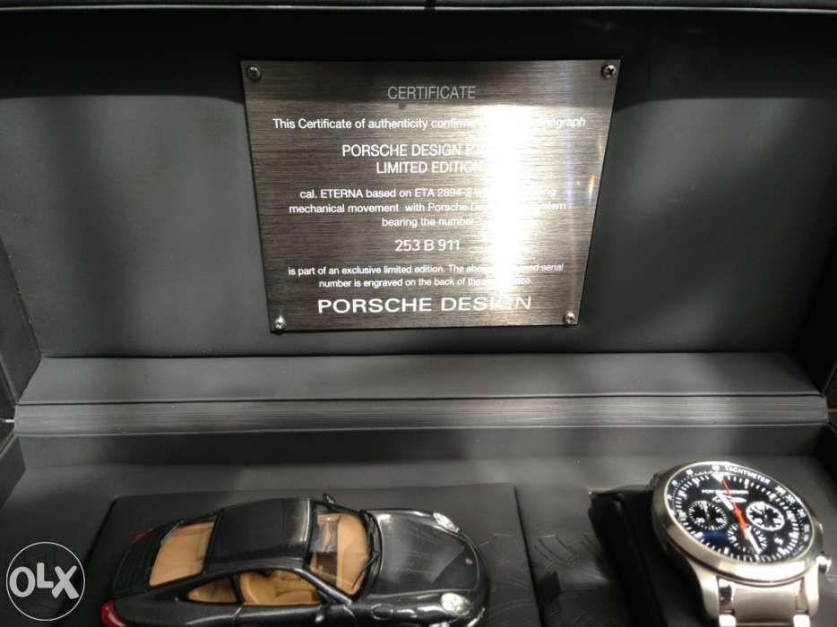 1cb50d19ee9 Relógio pulso homem Porsche Design 911 preto série limitada e mt raro -  Matosinhos - relógio